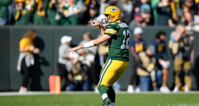 Aaron Rodgers was in imperious form against the Oakland Raiders. Photo: dairylandexpress.com