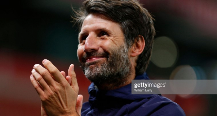 Huddersfield boss Danny Cowley looked a happier man after the midweek win at Stoke. Photo by William Early/Getty Images.
