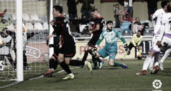 David Querol después de anotar el empate del Reus. / Foto: LaLiga