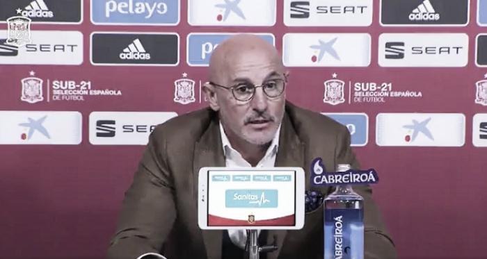 Luis de la Fuente durante la rueda de prensa en la que ofreció la lista/ Foto: Youtube
