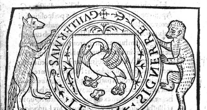 Portada de una versión de De Re Coquinaria, de Apicio, impresión de 1498. Fuente Wikicpedia commons