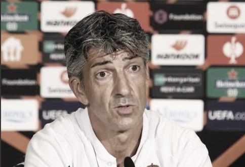 """Imanol Alguacil: """"Estoy orgulloso y feliz por el partido del equipo"""""""