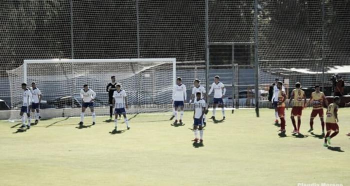 Foto en un partido del Deportivo Aragón (Foto: Claudia Moreno)