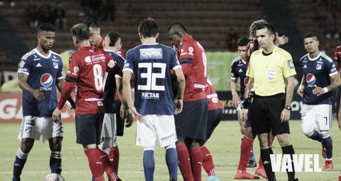 El DIM le quitó un invicto de 18 partidos oficiales a Millonarios. | Foto: VAVEL Colombia - Daniela Paniagua