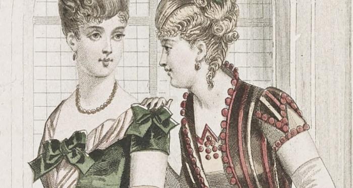 Imagen: Dos Damas Decimonónicas a la moda (Pixabay, PD)
