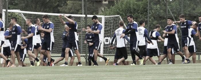 El entrenamiento matutino en la Villa Olímpica. Foto: Vélez Sarsfield Página Oficial.