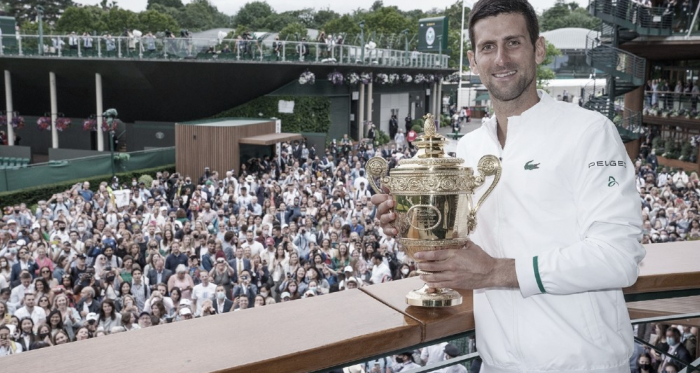 "Los 20 ""Grandes"" de Novak Djokovic"