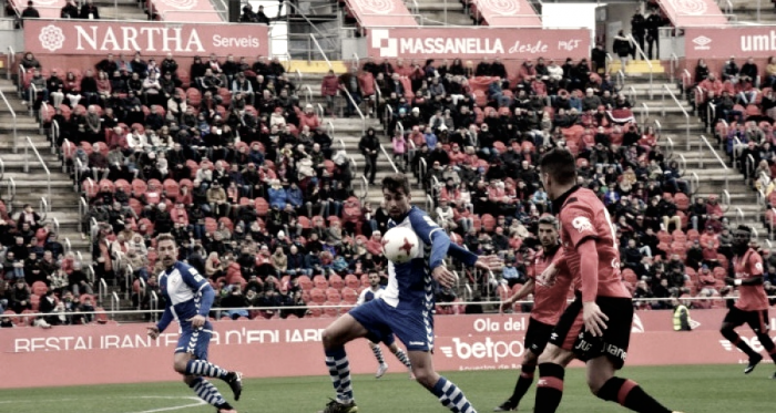 El partido de la primera vuelta acabó en tablas (Föto RCD Mallorca)