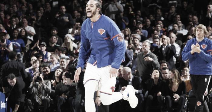 Joakim Noah con los Knicks | Fuente: New York Knicks