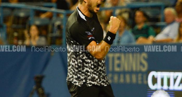 Stan Wawrinka roars at the Citi Open (Noel Alberto/VAVEL USA)