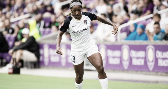 Crystal Dunn with the North Carolina Courage was named to the NWSL Team of the Month   Photo: NWSLsoccer.com