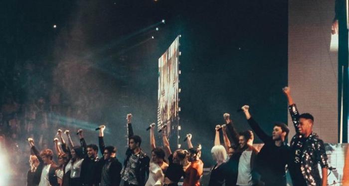 Los triunfitos en su primer concierto en el Palau Sant Jordi // Image: Instagram @carlos.ot2018