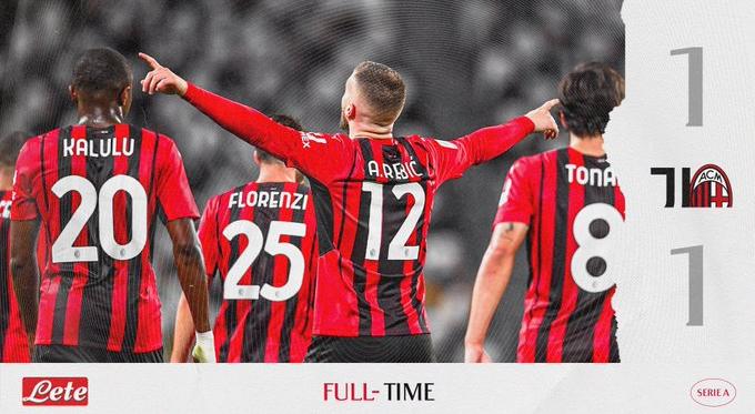 Serie A - Bella partita allo stadium: finisce 1-1 fra Juventus e Milan