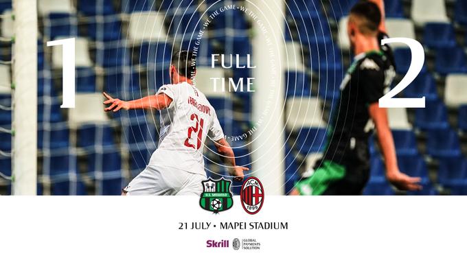 Serie A - Il Milan vince contro il Sassuolo: decisiva la doppietta di Ibrahimovic