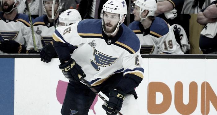 Edmunson con los Blues | Foto: NHL.com