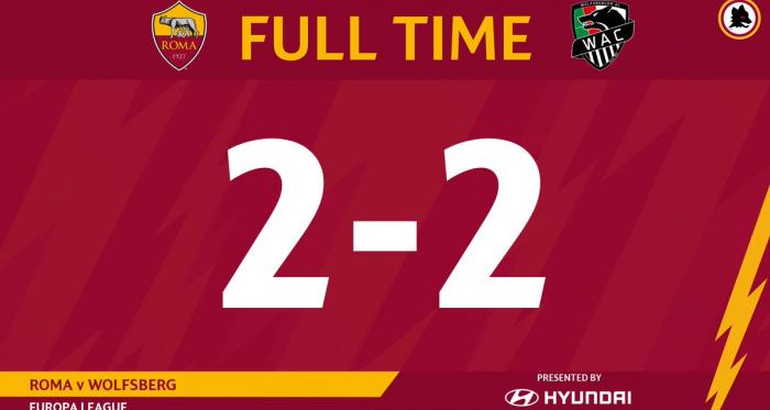 Alla Roma basta un pari 2-2 contro il Wolfsberger e qualificazione ai sedicesimi