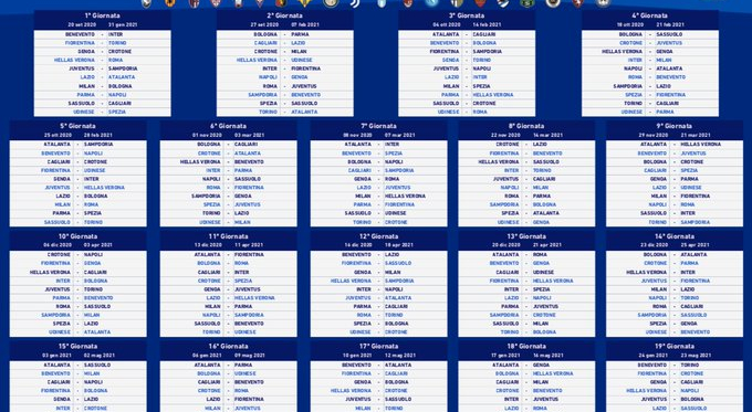 Serie A - Il calendario