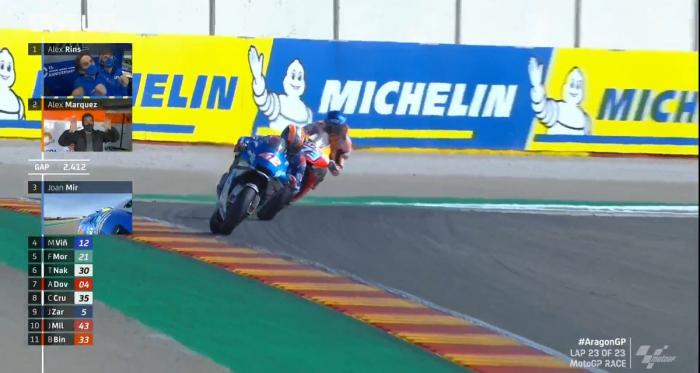 Straordinaria gara della MotoGp: Vince Rins, super Marquez