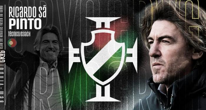 Vasco oficializa contratação do treinador português Ricardo Sá Pinto