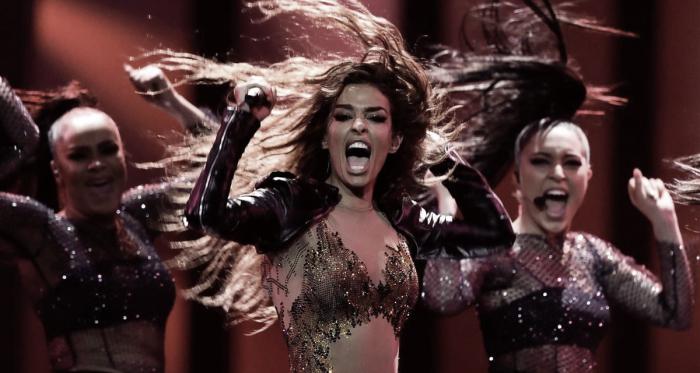 Eleni Foureira durante su actuación en Eurovisión 2018 / Eurovision.tv
