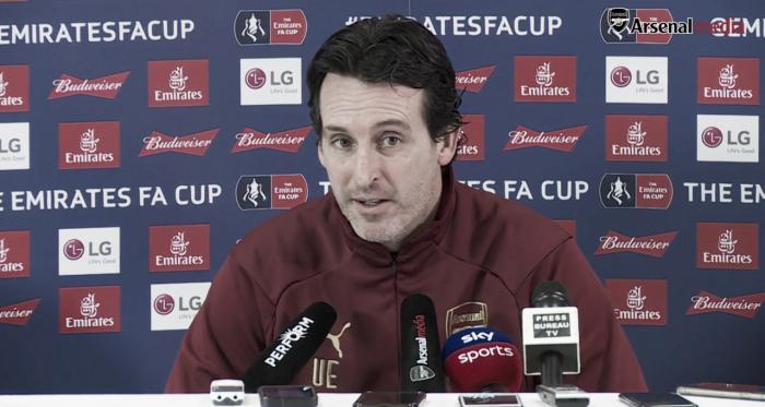 Emery en sala de prensa | Fotografía: Arsenal