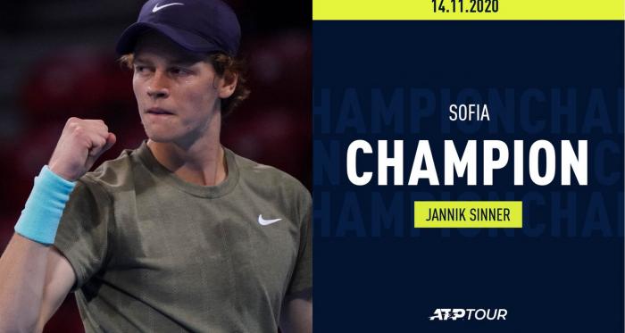 A Sofia, primo titolo ATP per Jannik Sinner