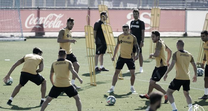 Los jugadores del Getafe preparan los próximos encuentros del equipo aprovechando el parón   Fuente: Getafe CF