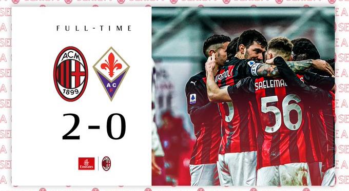 Serie A - Un Milan da primato: battuta la Fiorentina per 2-0