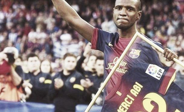 Abidal em homenagem feita pelo clube catalão.