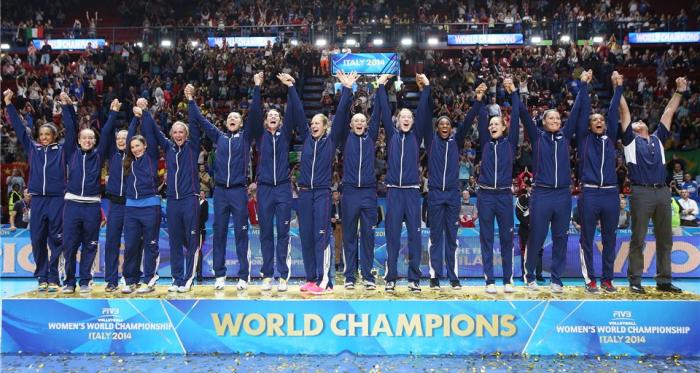 EUA festejam o título mundial em 2014