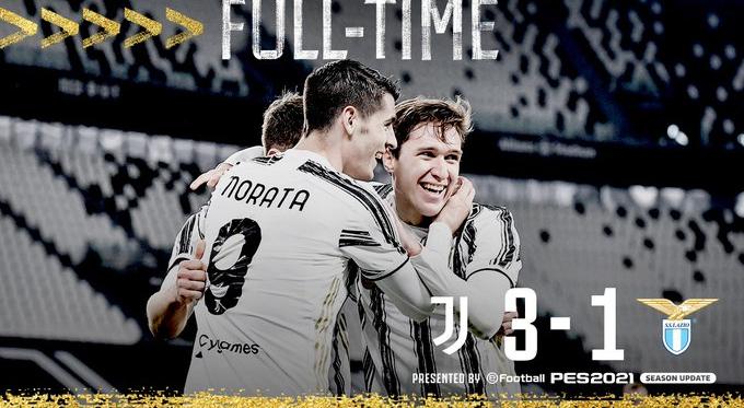 La Juventus ribalta la gara e vince contro la Lazio