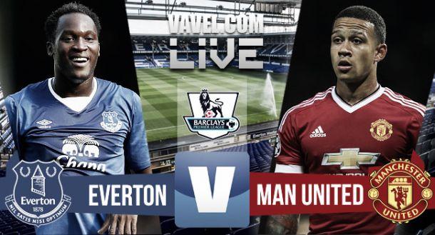 Resultado Everton - Manchester United en la Premier League 2015 (0-3)