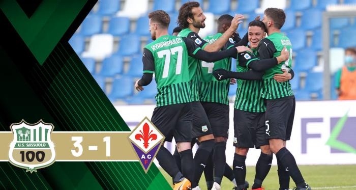 La Fiorentina si illude: il Sassuolo rimonta a vince 3-1