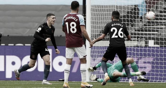 Manchester City sai atrás, mas busca empate fora de casa contra West Ham