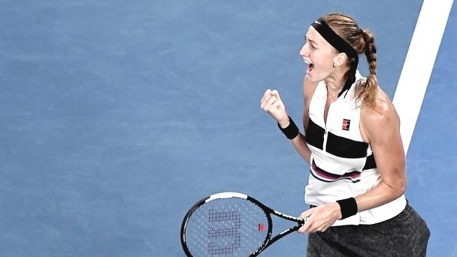 Petra Kvitova festejando su pase a semifinales | Foto: al aire libre