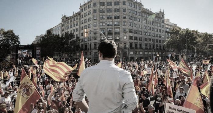 Albert Rivera durante un mitin. Fuente: Cuenta oficial de Facebook de Ciudadanos (@Cs.Ciudanos).