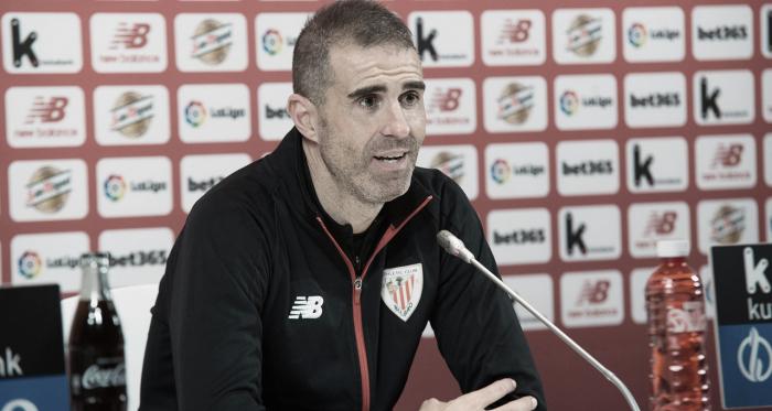 Garitano en rueda de prensa. Foto: Athletic Club