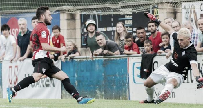 Unai López anotando su primer gol en la pretemporada | Fotografía: Athletic Club