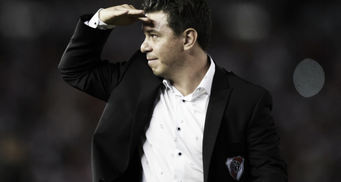 Gallardo mostró su conformidad con una nueva actuación destacada de su equipo (Foto: Prensa River)