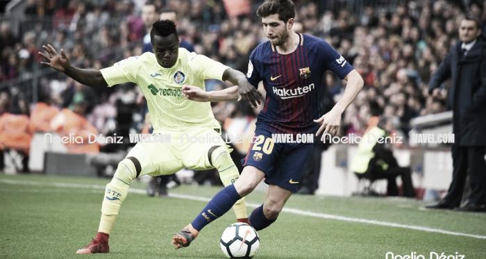 Acción correspondiente al FC Barcelona 0-0 Getafe CF de la pasada temporada / Foto: Noelia Déniz (VAVEL.com)