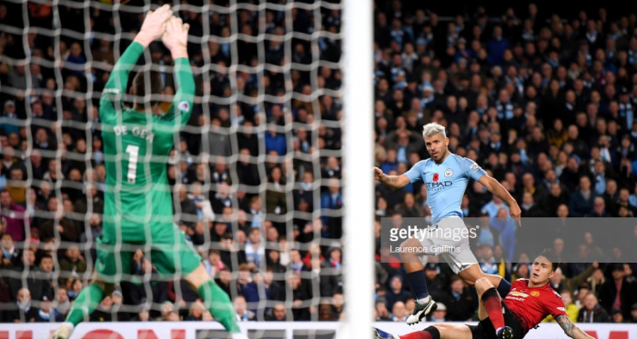 Sergio smashes City's second . Photo: Getty Images , Laurence Griffiths
