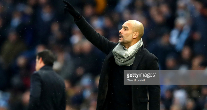 Pep Guardiola was delighted with his side's 3-1 win over Everton on Saturday afternoon. (picture: Getty Images / Clive Brunskill)