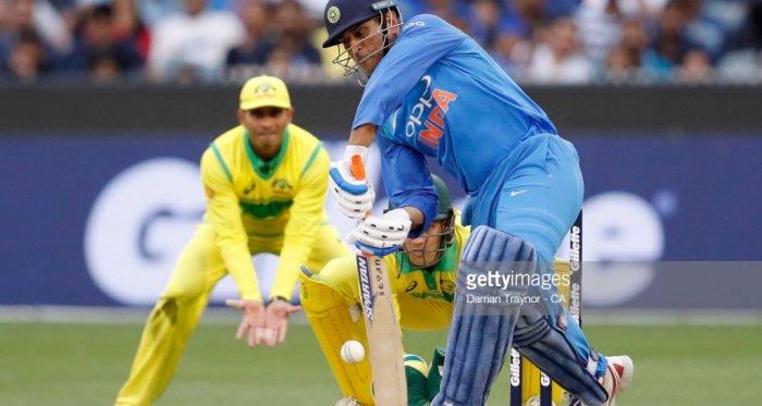 MS Dhoni in action against the Australians ((Photo by Darrian Traynor - CA/Cricket Australia/Getty Images)