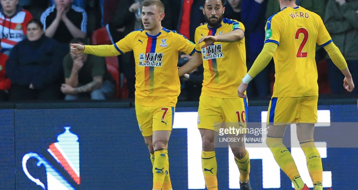 Max Meyer celebrating his goal via Getty Images