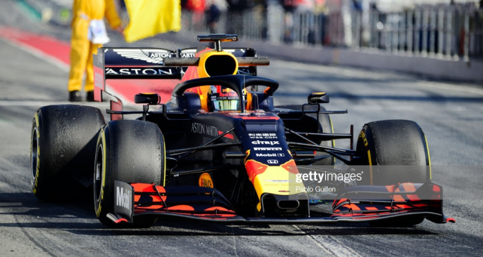 Gasly putting miles on the new RB15 during testing (Photo Credit:Pablo Guillen, Getty Images)