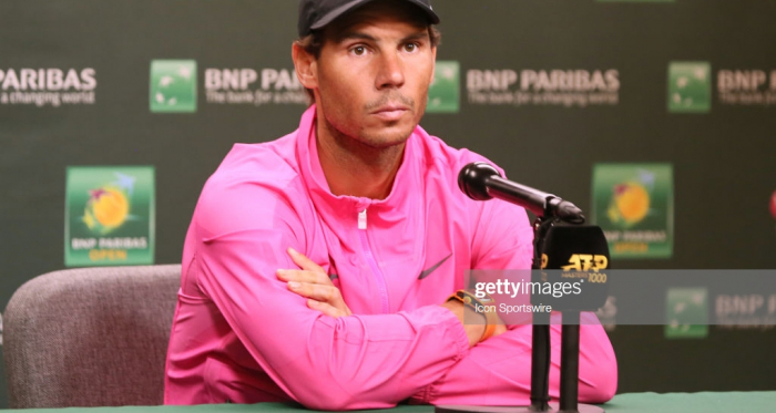 Nadal speaks to press about his withdrawal (Icon Sportswire/Getty Images)
