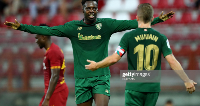 Williams and Munain celebrate in their preseason game against Roma (Getty Images/NurPhoto)