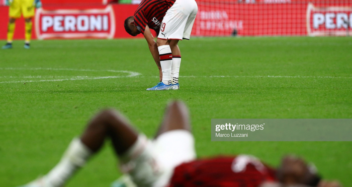 AC Milan players Rafael Leao and Theo Hernandez show their disappointment after yet another loss to Fiorentina last weekend (Getty Images/Marco Luzzani)