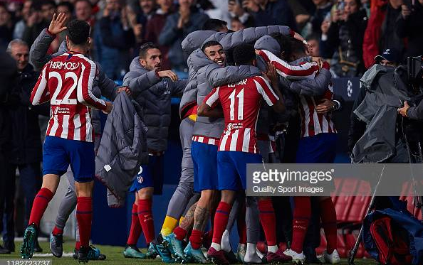 Atlético Madrid celebrates Morata winner (gettyimages/Quality Sport Images)