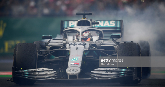 Hamilton won in Mexico (Photo credit: Getty Images, Clive Mason)